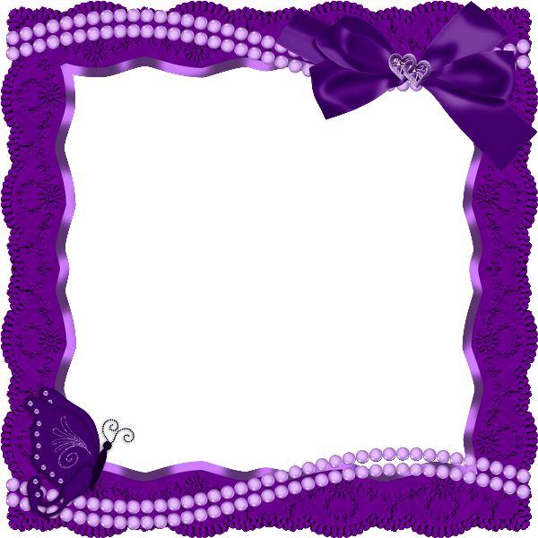 Purple butterfly border clipart