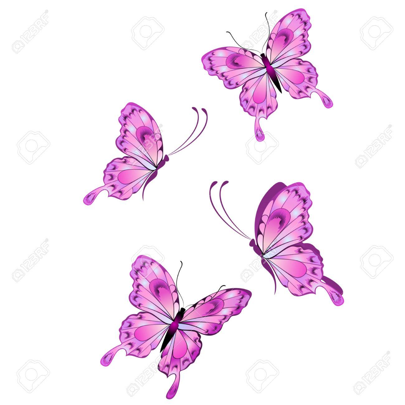 purple butterfly clipart.