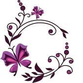 Purple Butterfly Border Clipart.