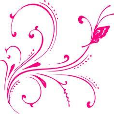 Butterfly Border Clip Art.