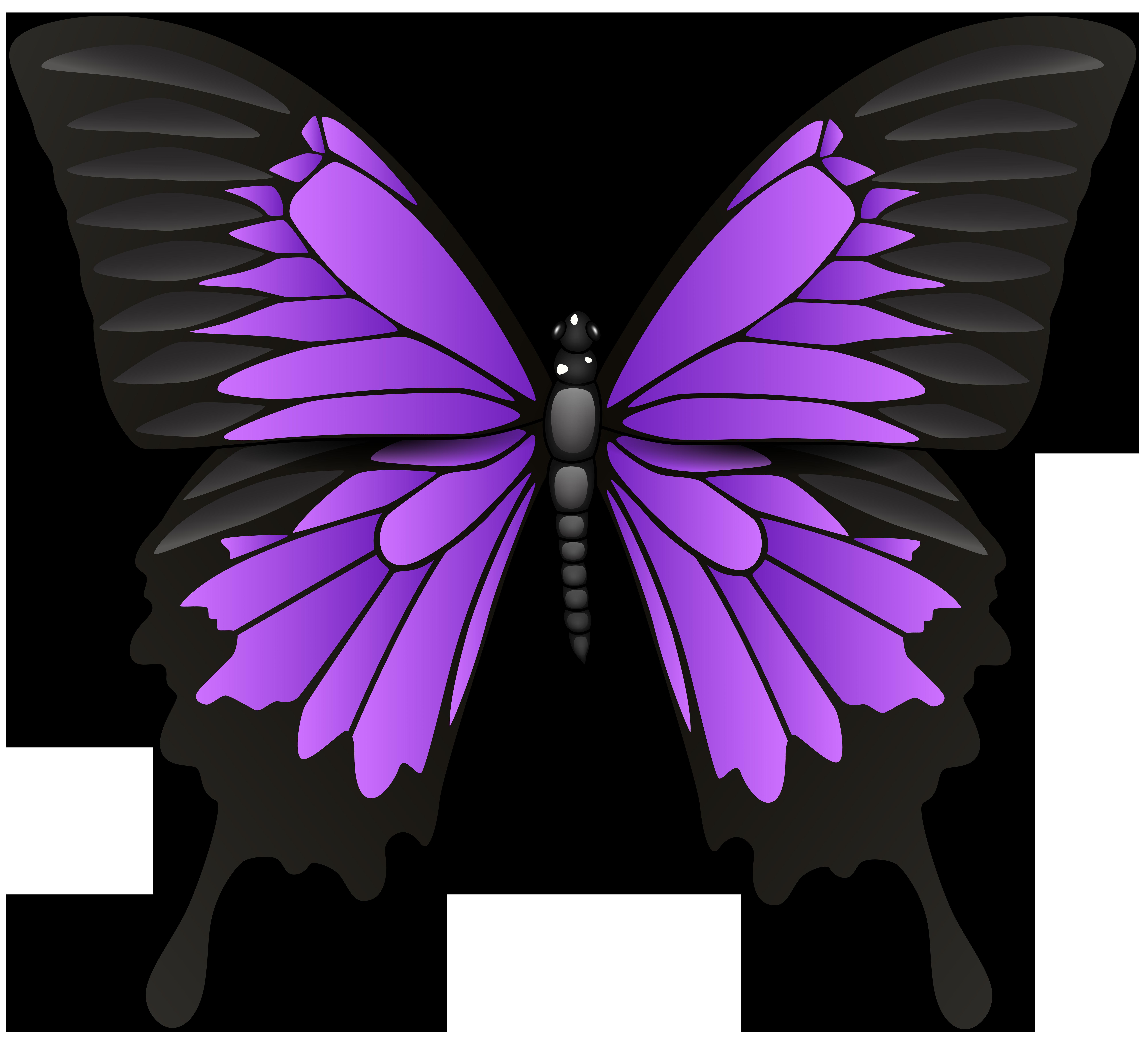 Purple Butterfly PNG Clip Art.