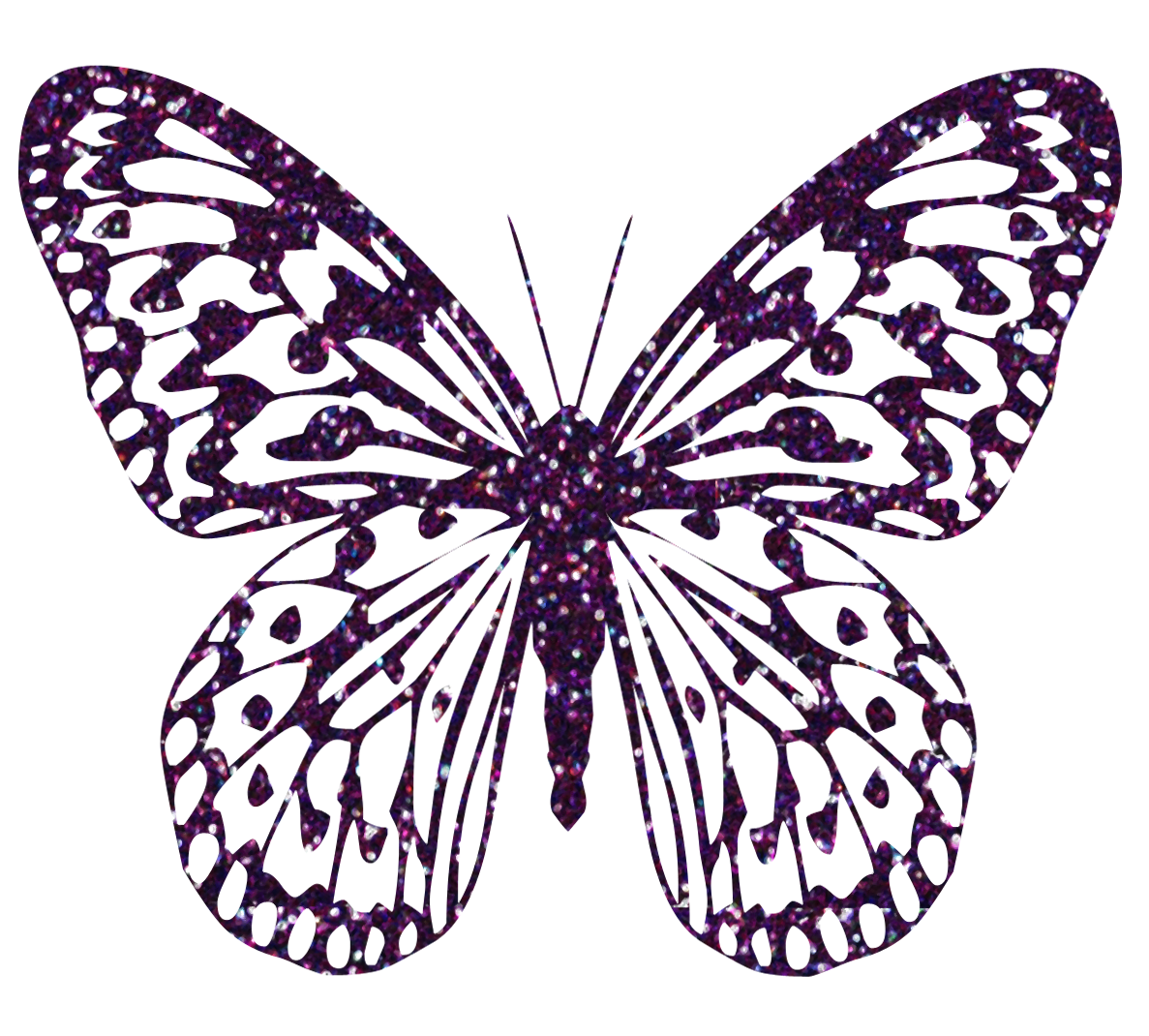 Purple Decorative Butterfly PNG Clipart Image.