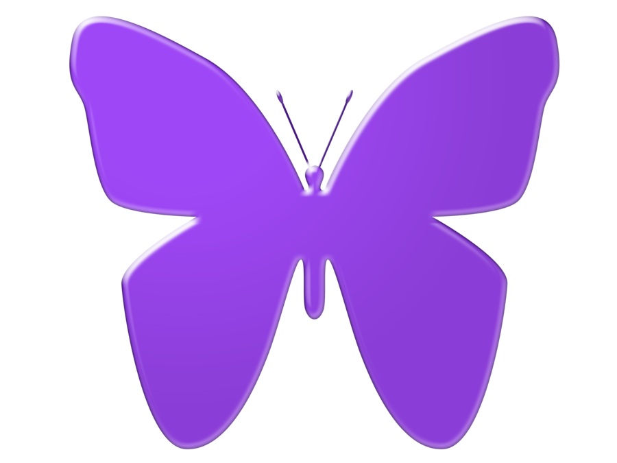 Purple Butterfly Clipart.