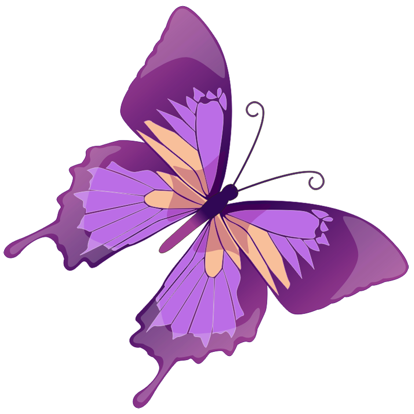Transparent Purple Butterfly PNG Picture.