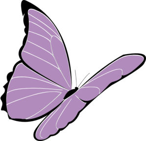 Purple Butterfly Png Clipart.