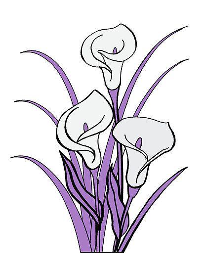 Calla Lily Floral Bouquet in Purple\