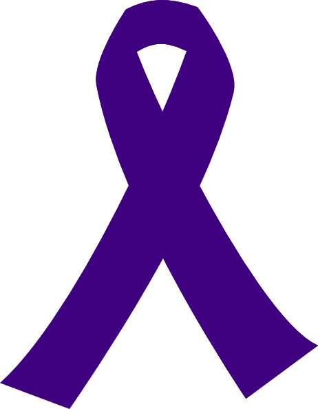 Purple Cancer Ribbon clip art.