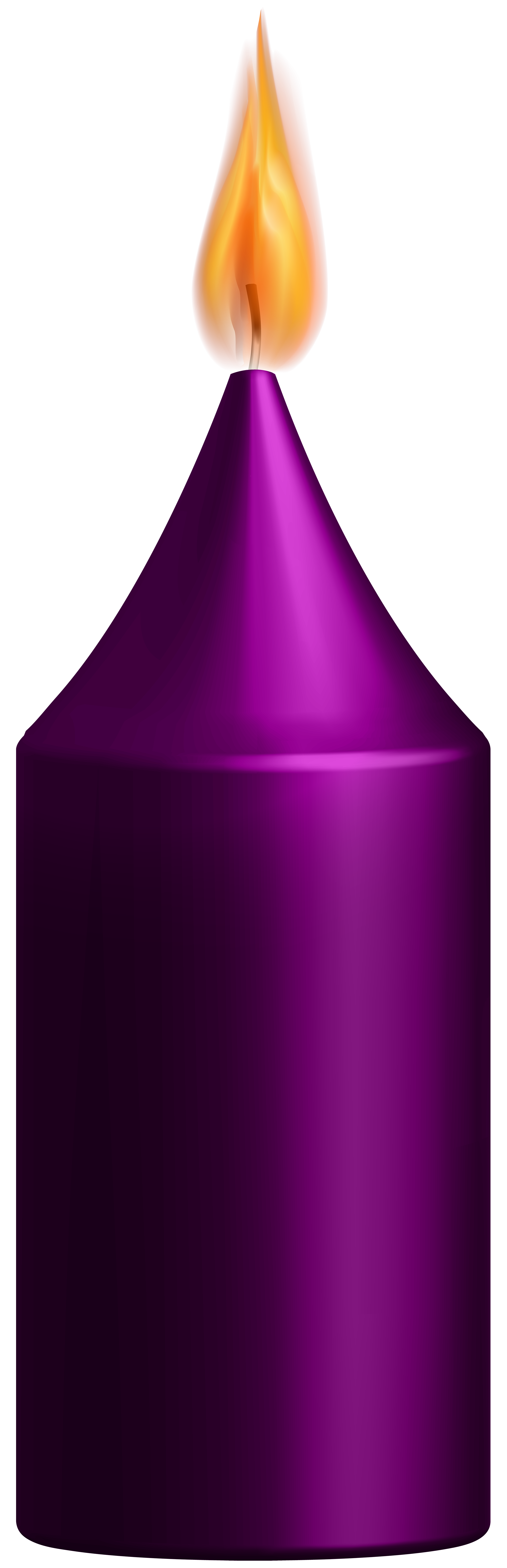Purple Candle PNG Clip Art.