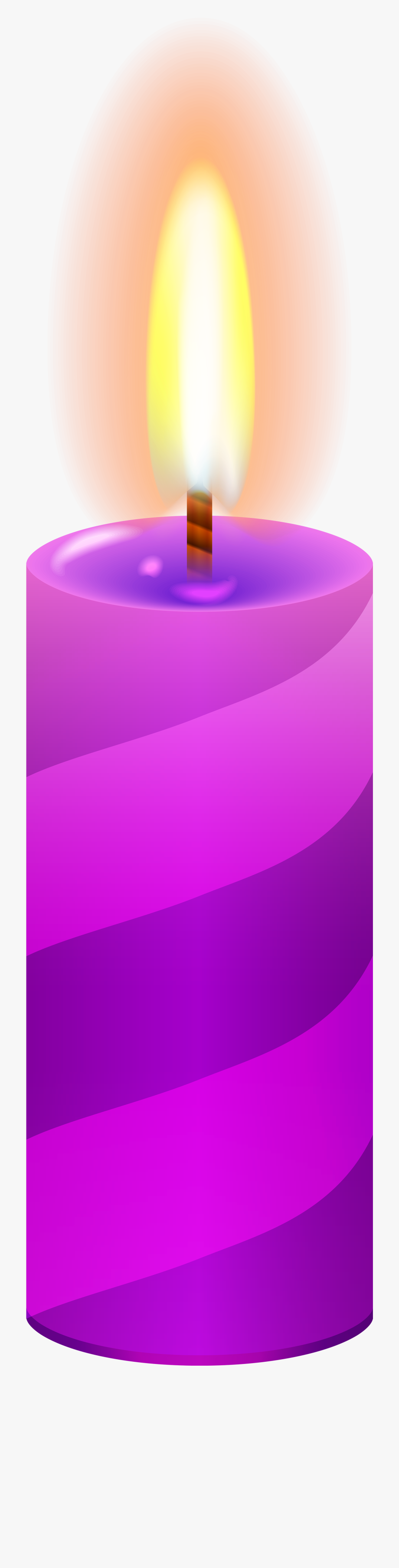 Candle Purple Png Clip Art.