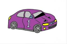 Purple Car Clipart.