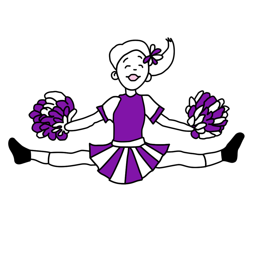 Cheer clipart purple, Cheer purple Transparent FREE for.