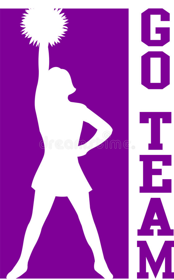 2722 Cheerleader free clipart.