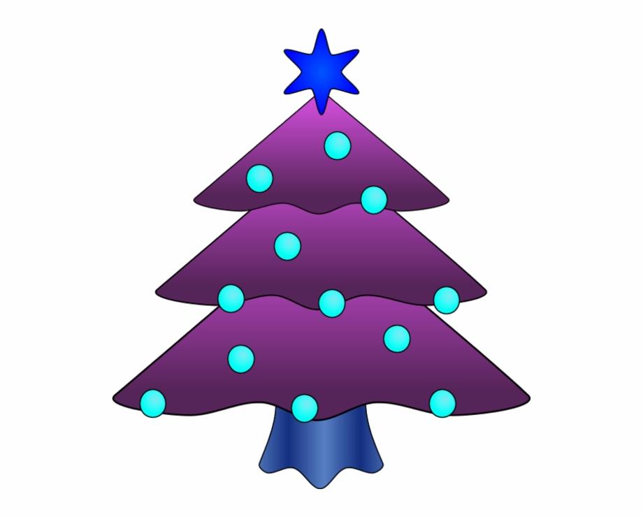 Purple Christmas Tree Clip Art.