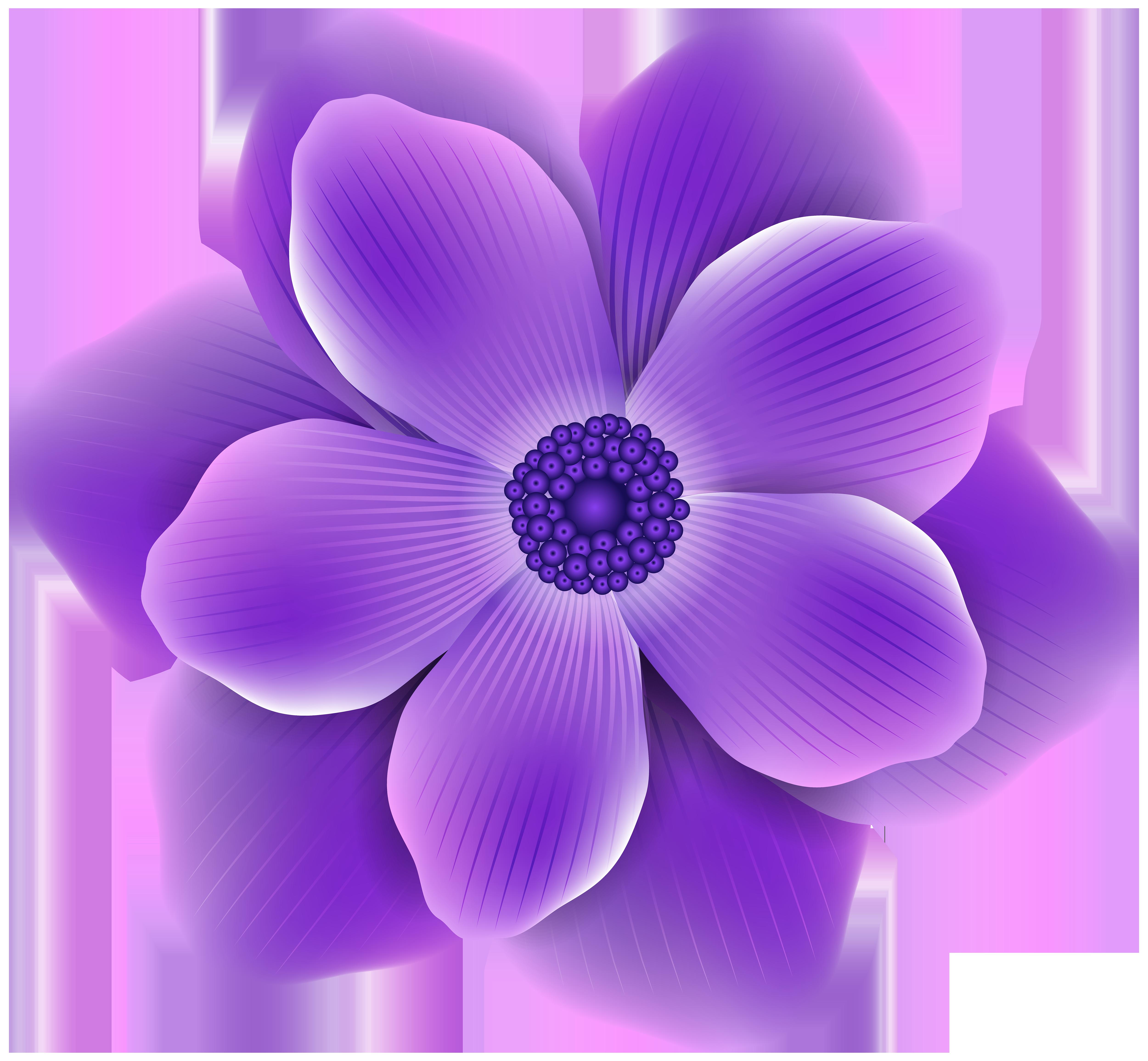 Purple Flower PNG Clip Art Image.