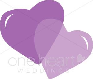 Purple Hearts Clipart.