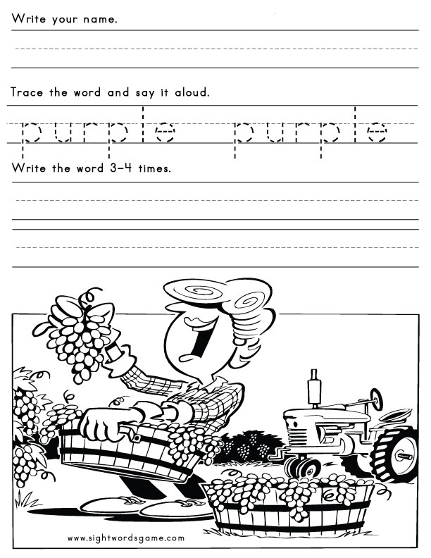 Color Worksheets.