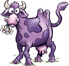 Purple Cow Drink Clip Art.