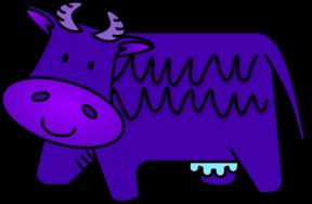 Purple Cow Clipart.