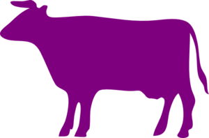 Purple Cow Clip Art.