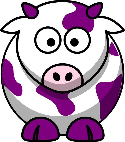 Purple Cow Clip Art at Clker.com.