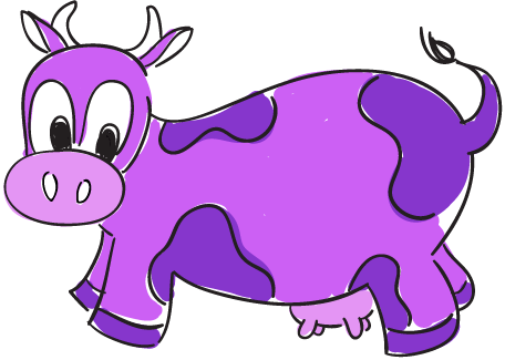 Purple Cow Clipart.