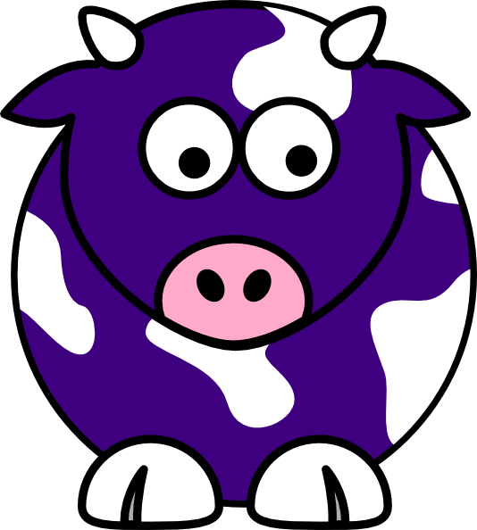 Blue Cow Clip Art at Clker.com.