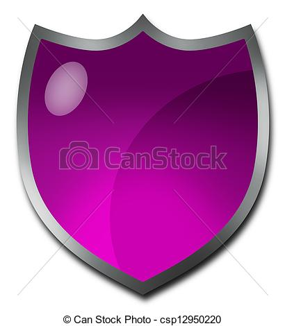 Clip Art of Purple badge or crest.