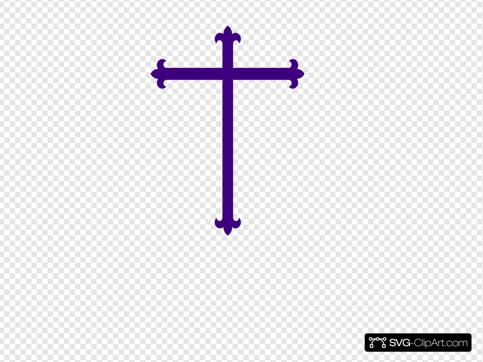 Purple Cross Clip art, Icon and SVG.
