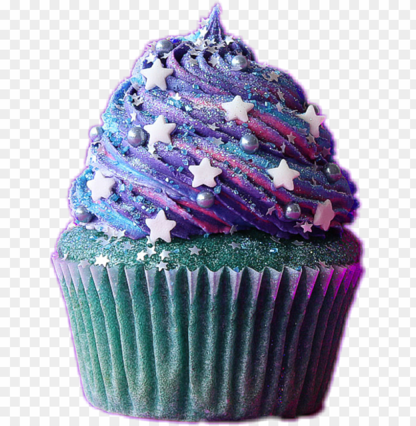 vector freeuse stock purple cupcakes clipart.