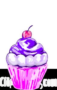 Purple Cupcake Clipart.
