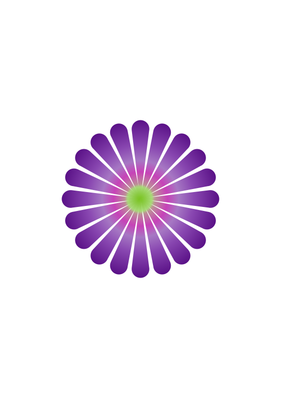 Free Clipart: Purple Daisy 20.