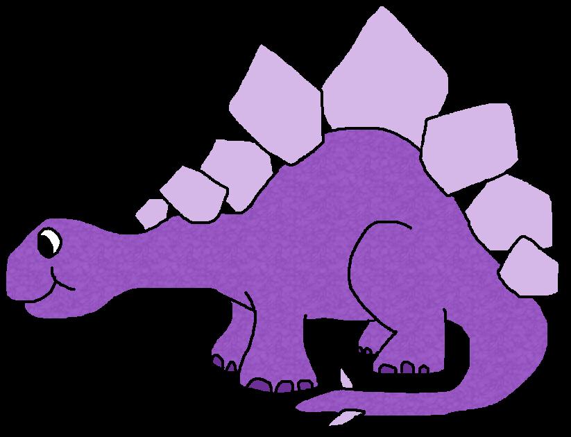Purple Dinosaur Cliparts.