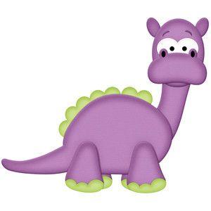 Purple dinosaur.