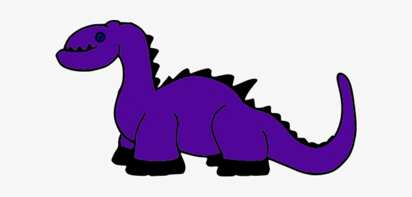 Dinosaur Clipart Purple Dinosaur.
