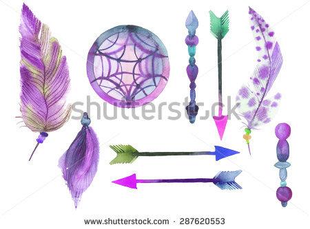 Purple Feathers Stock Photos, Royalty.