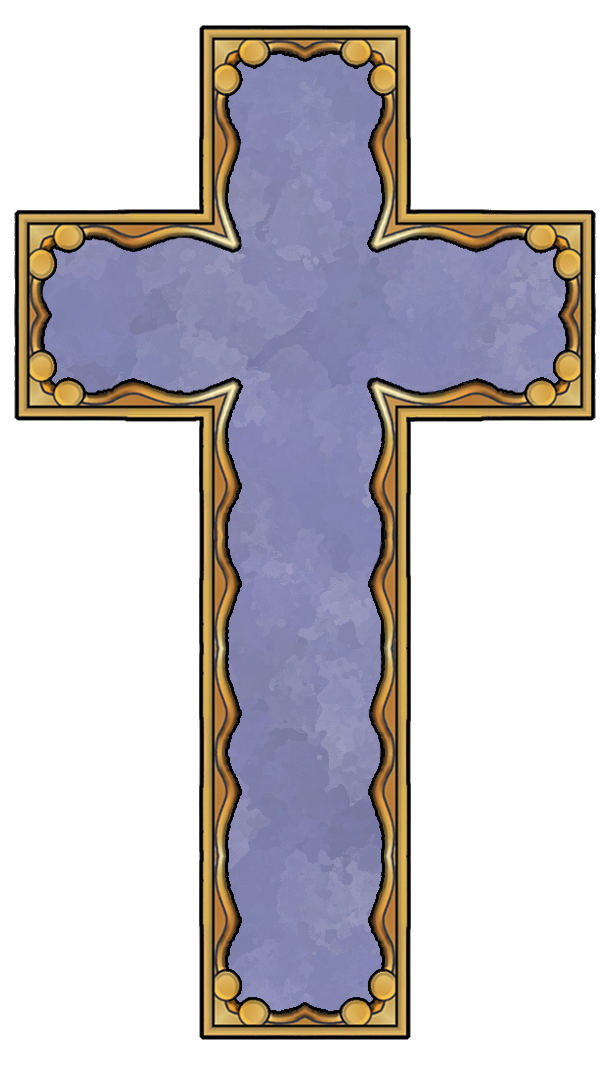 Purple easter cross clipart.