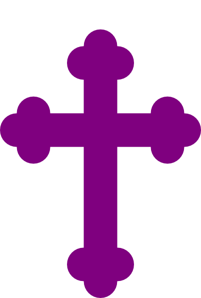 Purple cloth covered easter cross clipart transparent.