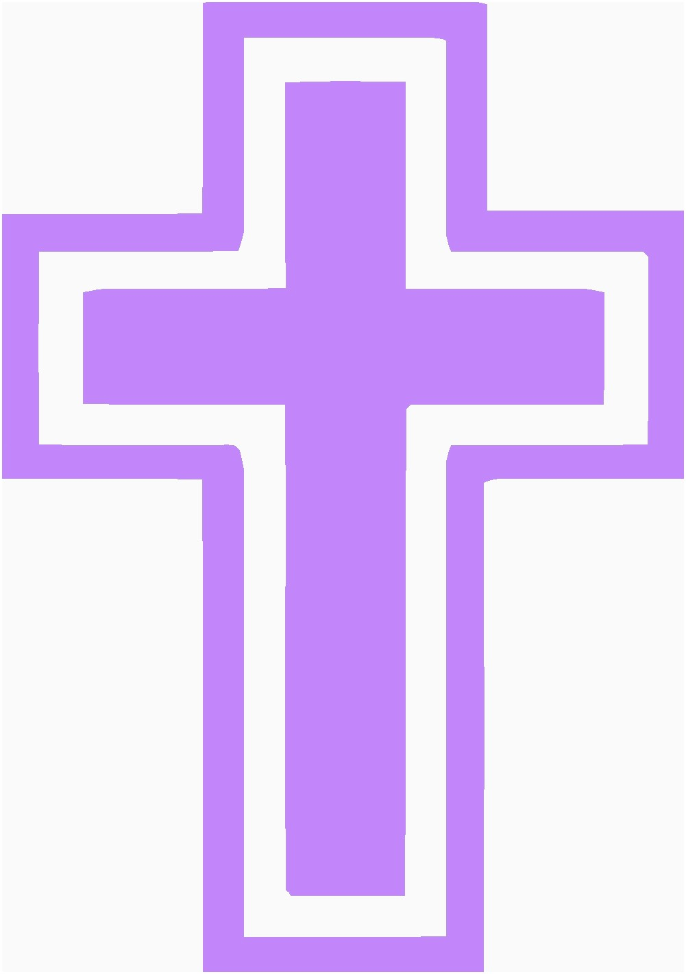 255 Easter Cross free clipart.