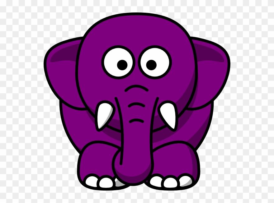 Elephant Clipart Purple.