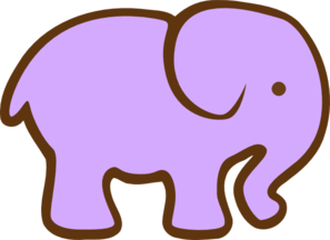 Purple Elephant Clip Art at Clker.com.