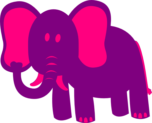 purple elephant.