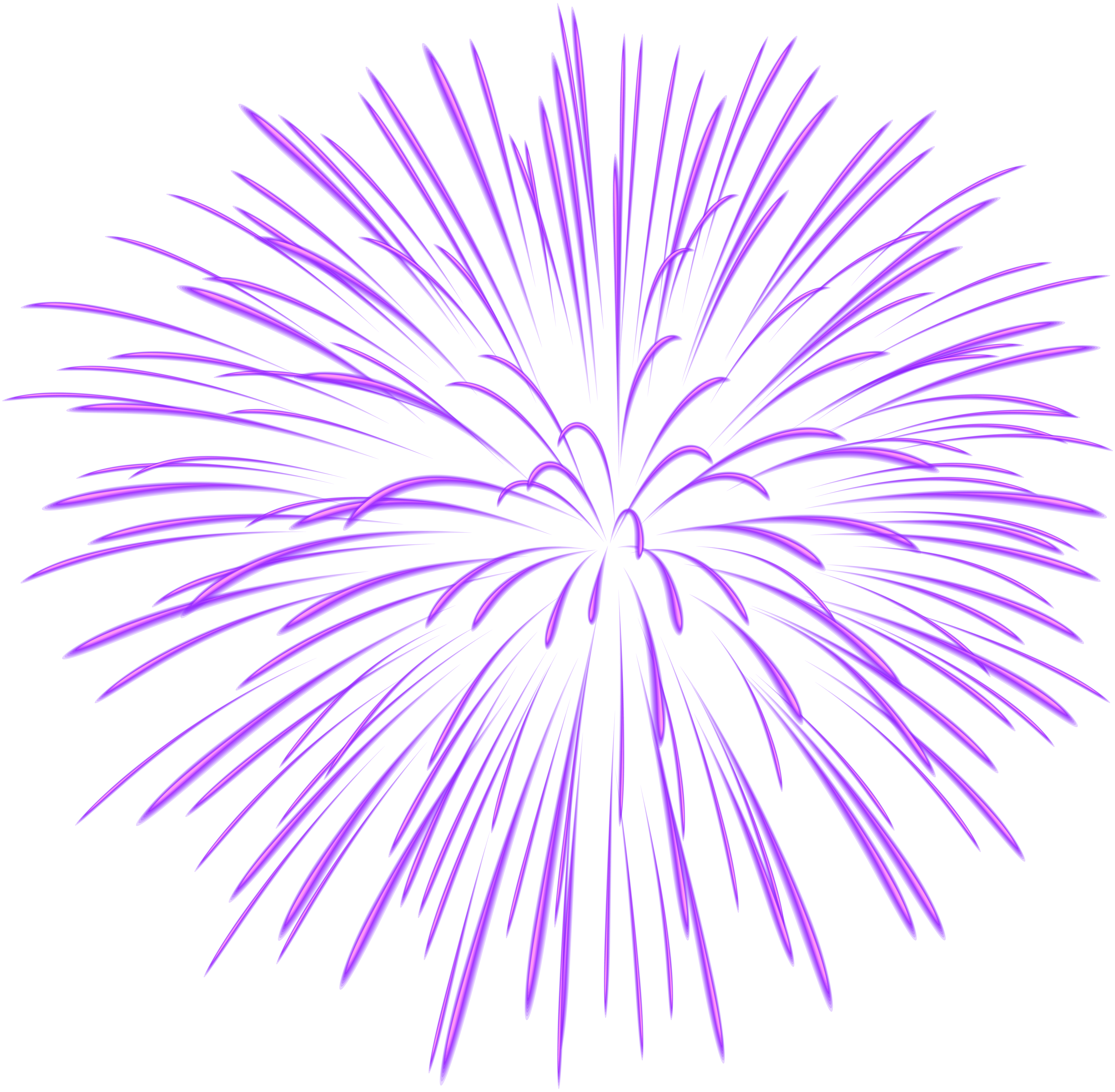 Purple Fireworks Clipart.