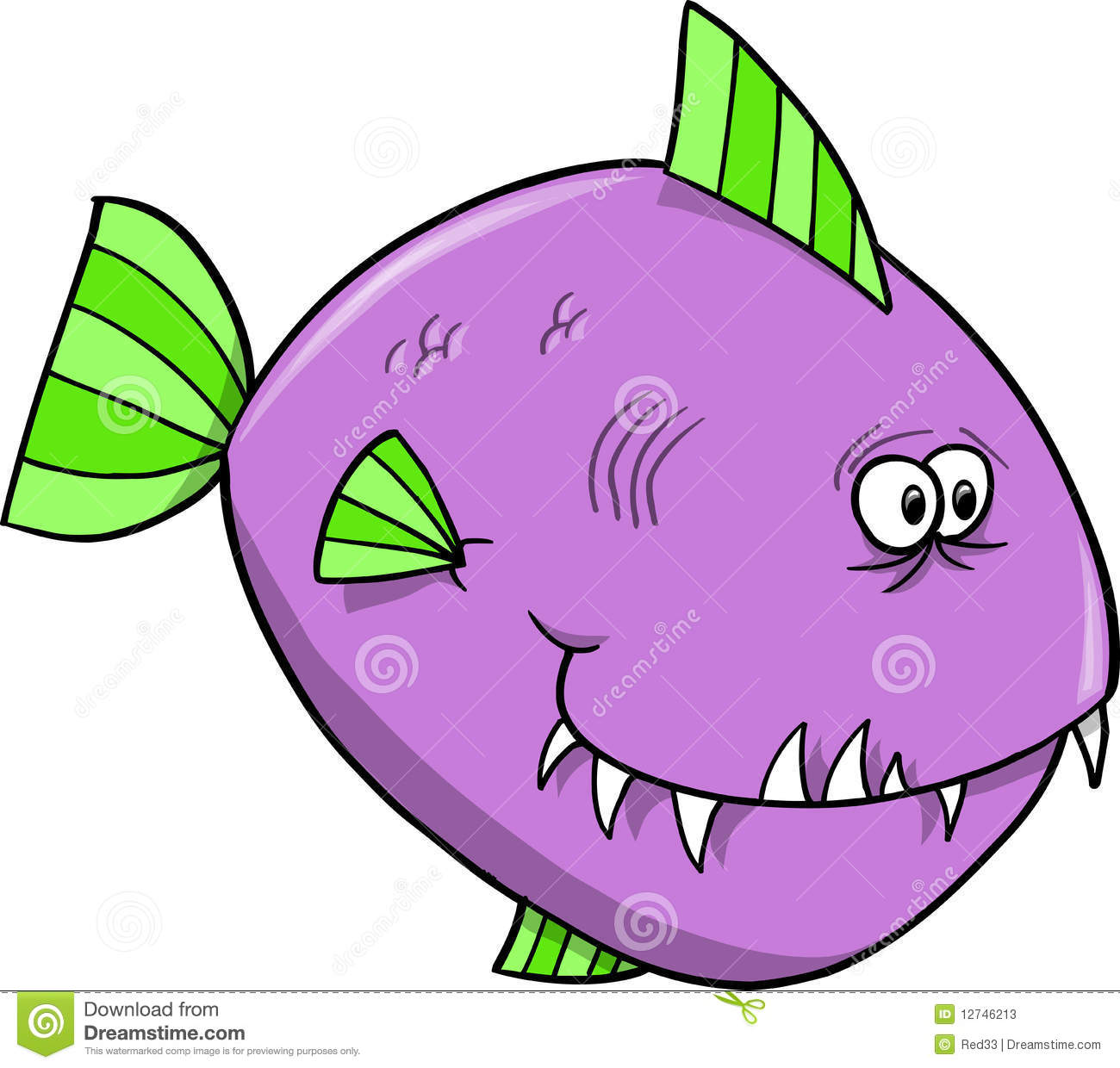 Purple Fish Vector Stock Photos.