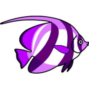 Purple Fish Clip Art.