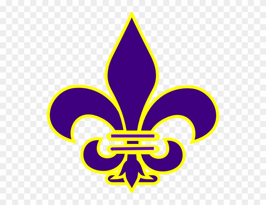 Purple And Gold Fleur De Lis Clipart (#154355).