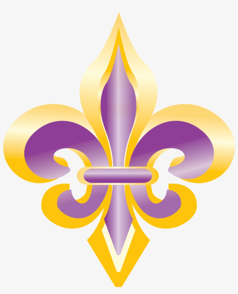 Purple And Gold Fleur De Lis Clip Art.