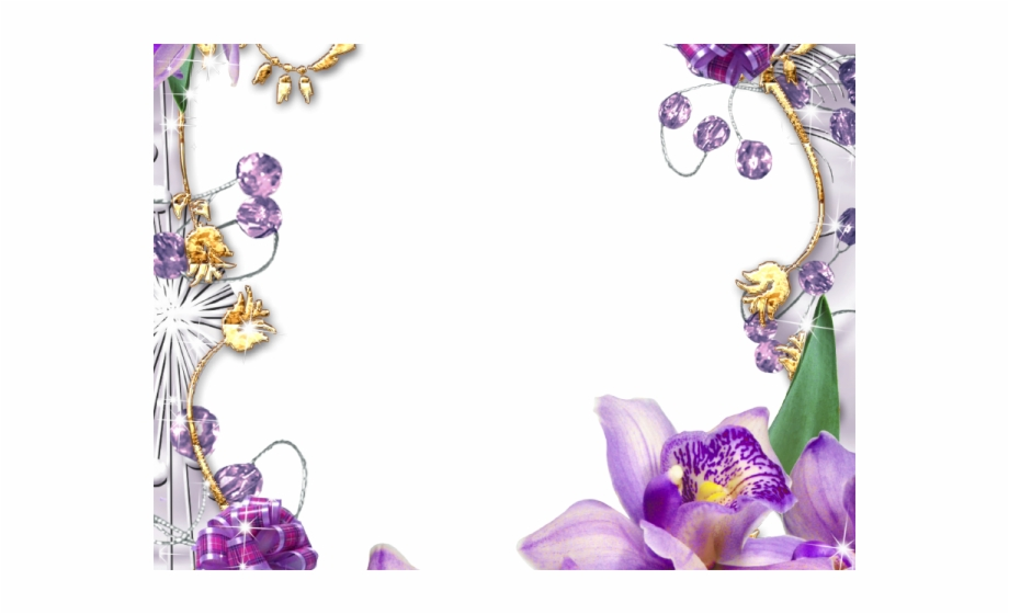Flowers Borders Clipart Violet Flower Borders And Frames.