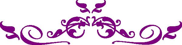 Purple Flourish Clipart.