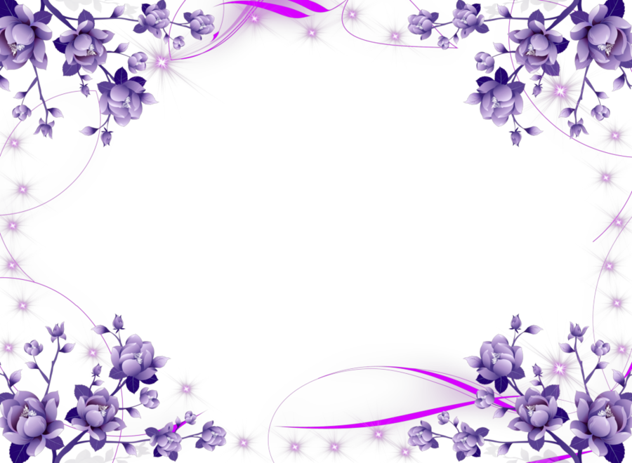 Blue Flower Borders And Frames clipart.