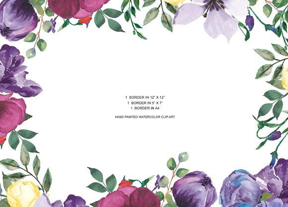 Purple flower border clipart 1 » Clipart Station.